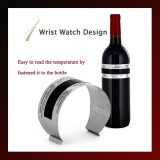LCD Stainless Steel Wine Bracelet Thermometer