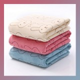 3pcs Soft Microfiber Baby Child Kids Bath Towels Brushed Strong Absorbent