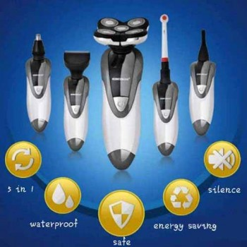 5 In 1 Waterproof Multifunction Electric Shaver