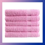 80x50cm Soft Cotton Bath Beach Towel Super Absorbent PINK