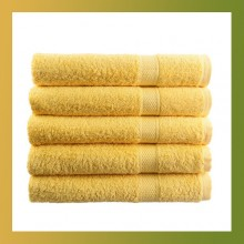 80x50cm Soft Cotton Bath Beach Towel Super Absorbent YELLOW