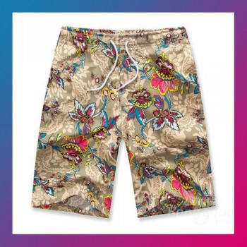 Men Summer Colorful Beach Surfing Swimming Sports Short-FLOWER