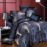 4pcs Suit 3D The Tree Of Life Reactive Dyeing Polyester Fiber Bedding Set