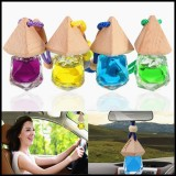 Diamond-Shaped Glass Car Perfume Ornament