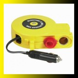 Cigarette lighter with retractable extension cord
