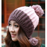 Winter Knitted Wool Hat-PINK
