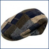 Tweed Patchwork Cap -Men