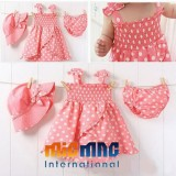 3 Pc.Pink Dot Outfit