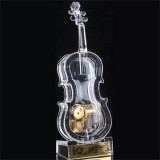 Crystal Violin Music Box