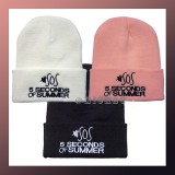 Men Women Warm 5 Seconds Of Summer SOS Ski Crochet Beanie
