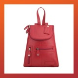 Leather - FASHION BACKPACK-Women-RED