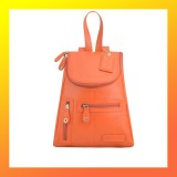 Leather - FASHION BACKPACK-Women-ORANGE