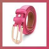 Diamond Genuine Leather Pin Buckle-PINK