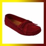 Women Flat Tassel Shoes-RED
