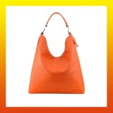 Leather - FASHION HANDBAG/SHOULDER BAG-Hobo Style ORANGE