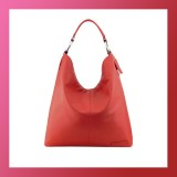 Leather - FASHION HANDBAG/SHOULDER BAG-Hobo Style RED