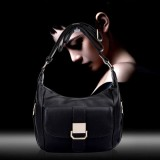 Leather - Crossbody Shoulder Bag-BLACK-Women