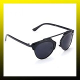 Vintage Christian Designer Fashion Retro Sunglasses (Unisex)BLACK