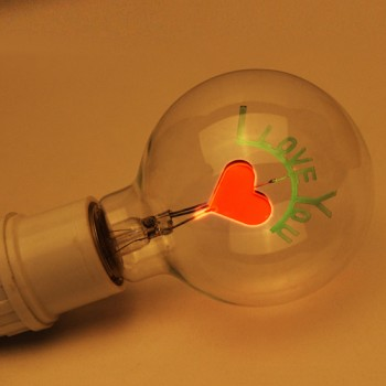 3W Edison Bulbs I Love You Shaped