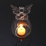 Angel Crystal Candlestick Glass Holder