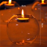 Glass Candle Holder Crystal Round Shape