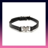 Bling Crystal Rhinestone Pet Collar-BLACK