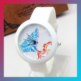 Bird Rhinestone Silicone Quartz Watch