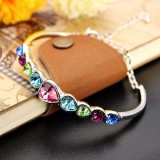Austrian Crystal Heart Shaped Barcelet
