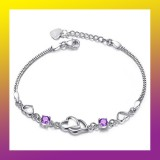 Crystal Double Heart Bracelet