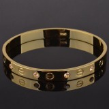 Cartier Look-A-Like Bracelet Gold Plated With Crystals