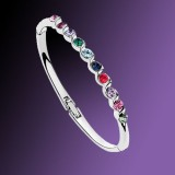 Crystal Colorful Bracelet-Silver Plated