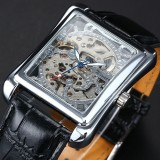 St/St Automatic Skeleton Men's Mechanical Watch