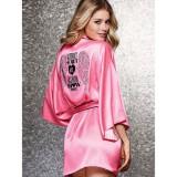 Pink Satin Kimono