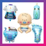 5pcs Baby Boy Birthday Party Balloons Decorations