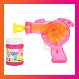 LED Flashlight Plastic Bubble Gun