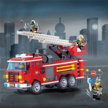 Three Bridge Fire Engines Truck Fire Series Blocks Educational Toy -364 PCS