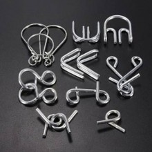 Brain Teaser Metal Wire Puzzles-7 Sets