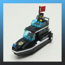 SWAT Special Police Speedboat Assembly Puzzle