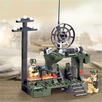 Outpost Combat Zones Series Blocks Children Educational Toy