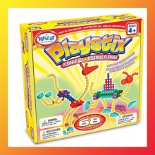 New Popular Plaything PLAYSTIX 68 PCS W. FLEXIBLE Components Age 4+