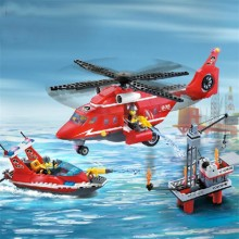 Sea Rescue Teams Fire Rescue Blocks Children Educational Toy