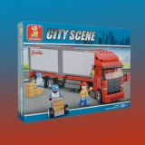 DOUBLE VAN FREIGHT TRAIN 345pc-Ages 6+