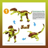 8 IN 1 25 Forms Dinosaurs Building Blocks DIY Toys