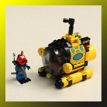 Treasure Hunt Submarine Assemble Building Blocks
