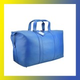 Leather-OVERNIGHT BAG-Fashion Weekender-Women BLUE