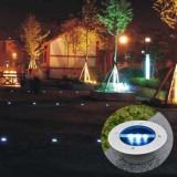 LED Solar Powered St/St Ground Buried Garden Path Light