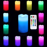 3 x Remote Controlled LED Wax Candles