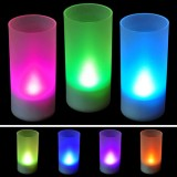 Romantic Flameless Sound Sensor LED Candle Set of 4