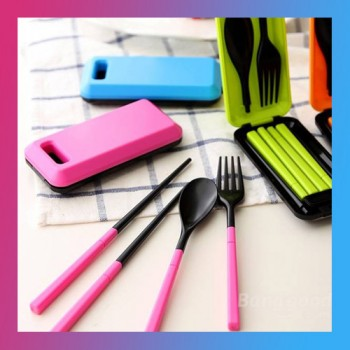 Portable Tableware Sets Folding Spoon Fork Chopsticks