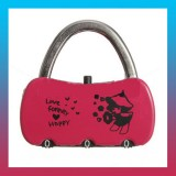 3 Digit Combination HAPPY Padlock-Set Of 2